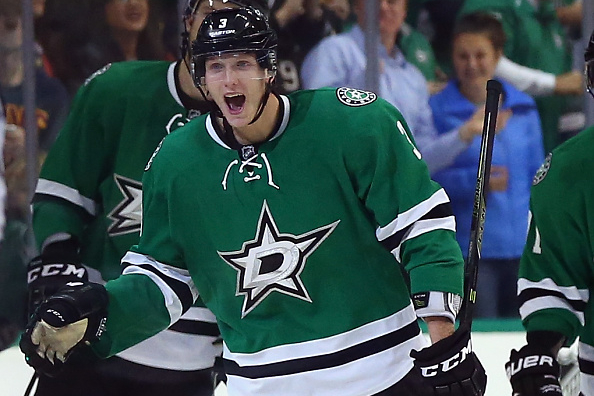 in the second period at American Airlines Center on October 27, 2015 in Dallas, Texas.