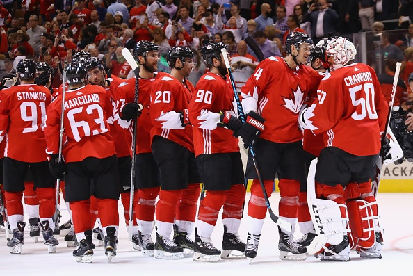 at the World Cup of Hockey tournament at the Air Canada Centre on September 21, 2016 in Toronto, Canada.