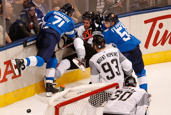 TORONTO, ON - SEPTEMBER 18:  during the World Cup of Hockey at the Air Canada Center on September 18, 2016 in Toronto, Canada.  (Photo by Gregory Shamus/Getty Images) *** Local Caption ***